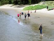 Weitläufiger Strand von Harriersand.